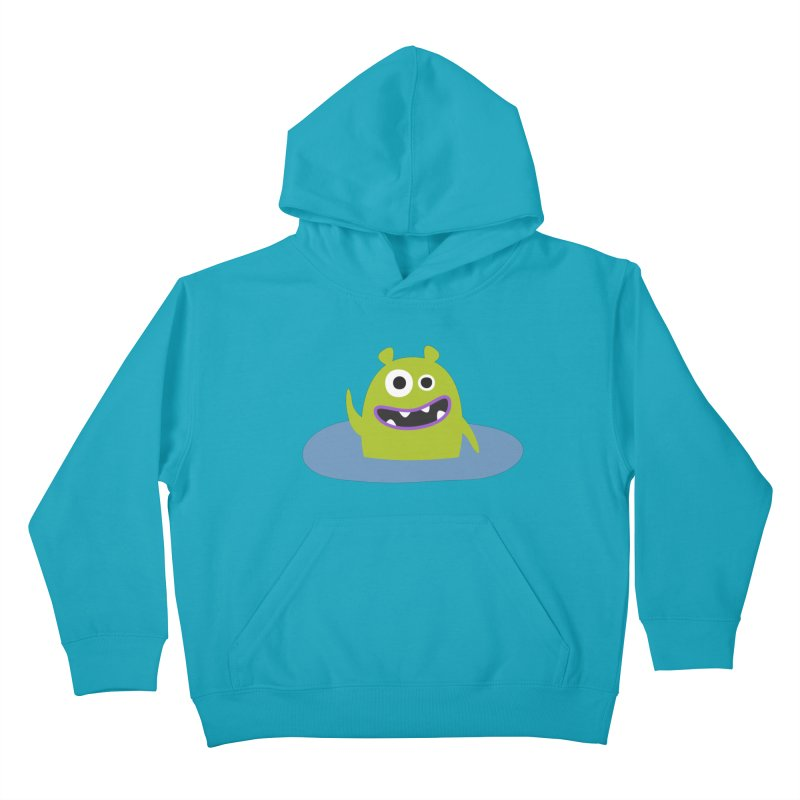 Mr. Green and the pool Kids Pullover Hoody by B