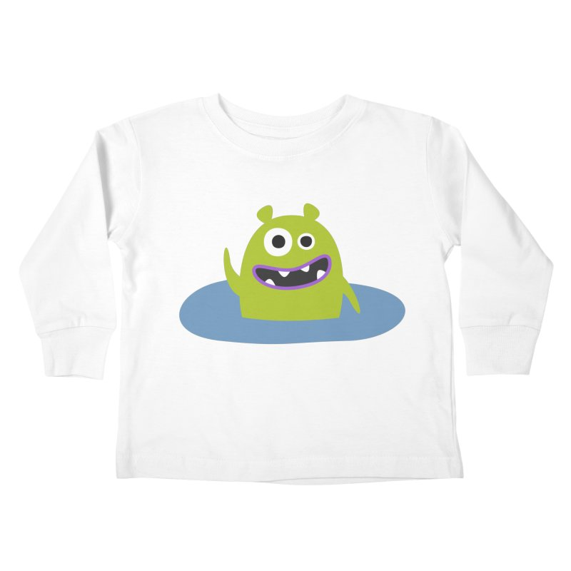 Mr. Green and the pool Kids Toddler Longsleeve T-Shirt by B