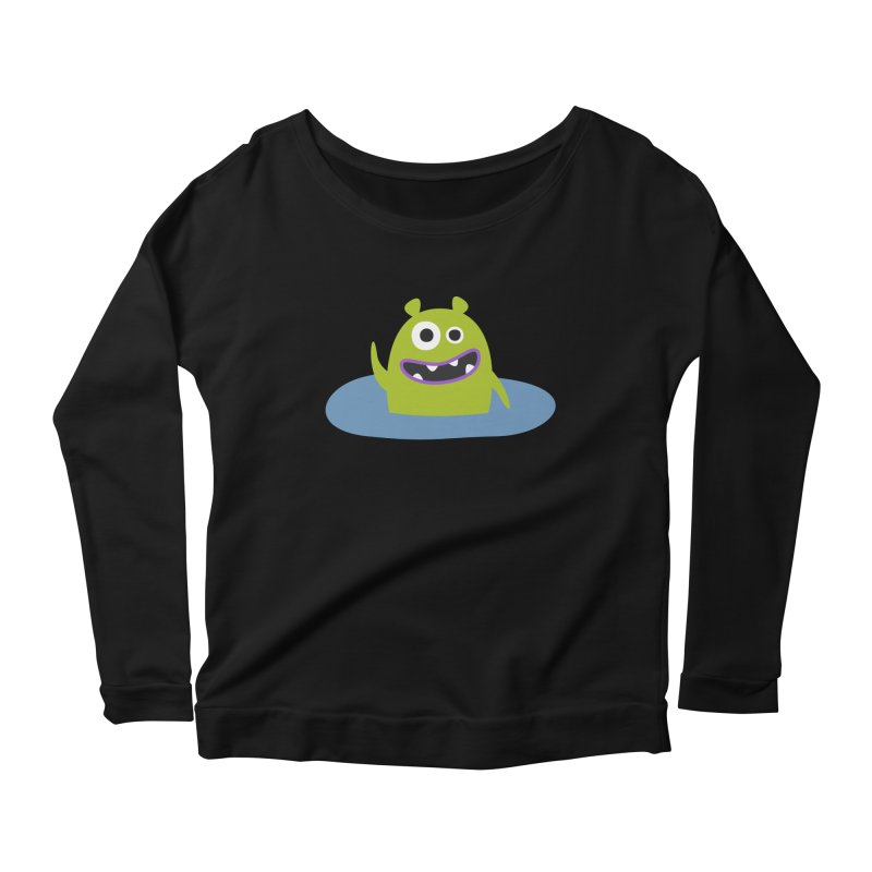 Mr. Green and the pool Women's Scoop Neck Longsleeve T-Shirt by B