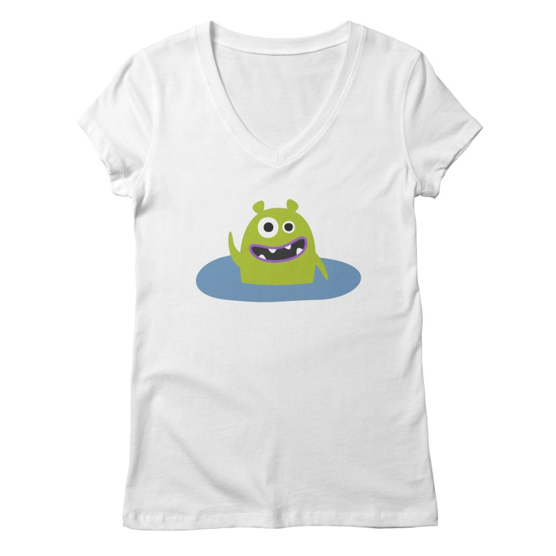 Mr. Green and the pool Women's Regular V-Neck by B