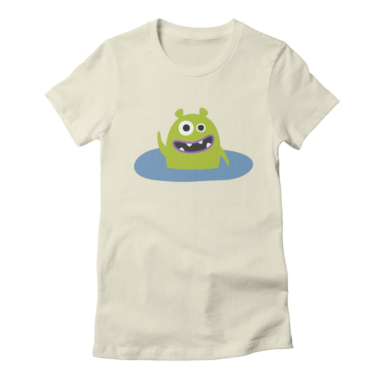 Mr. Green and the pool Women's Fitted T-Shirt by B