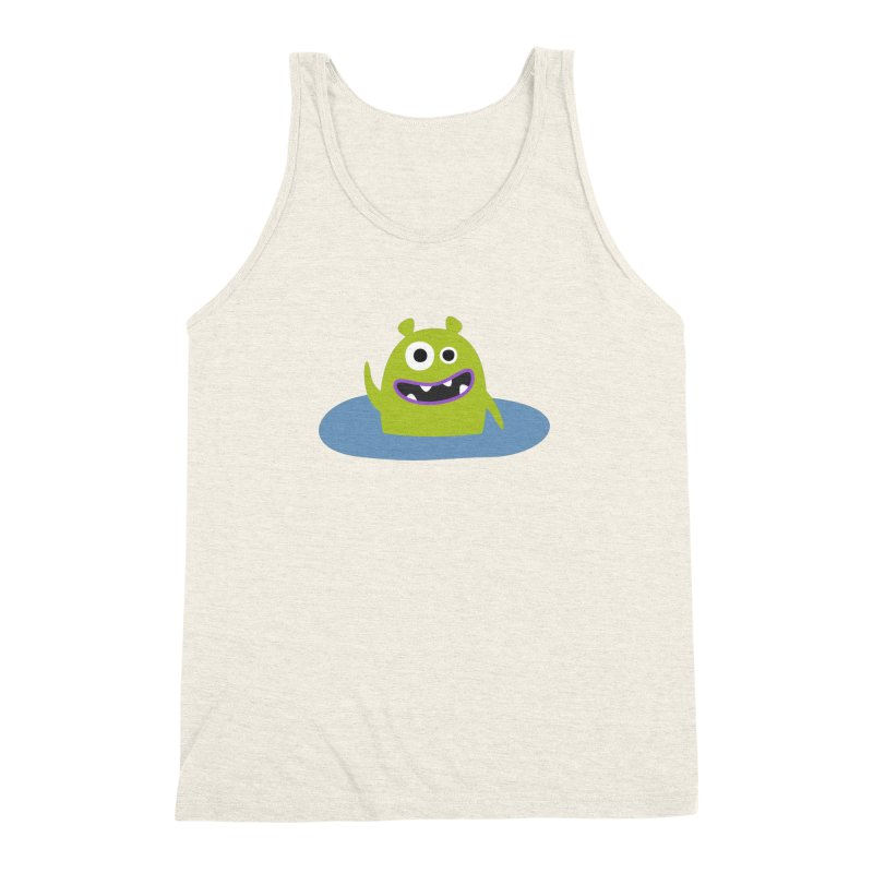 Mr. Green and the pool Men's Triblend Tank by B