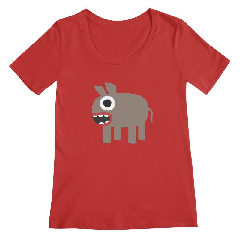 I'm a Donkey Women's Regular Scoop Neck by B