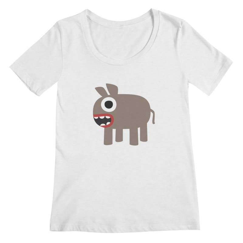 I'm a Donkey Women's Regular Scoop Neck by B