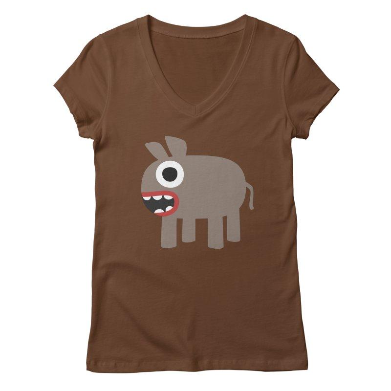 I'm a Donkey Women's Regular V-Neck by B