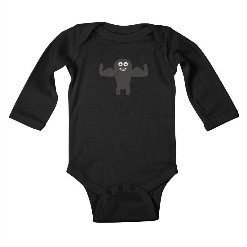 Arnold the Muscleman Kids Baby Longsleeve Bodysuit by B
