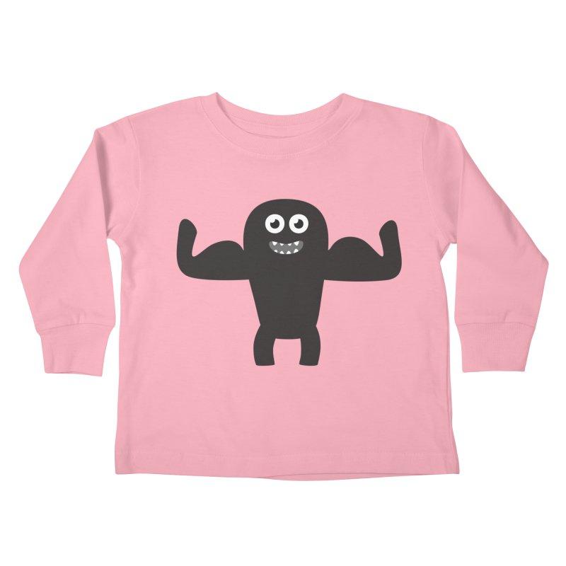 Arnold the Muscleman Kids Toddler Longsleeve T-Shirt by B