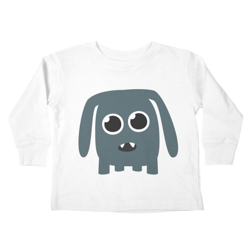 Monster Doggy Kids Toddler Longsleeve T-Shirt by B