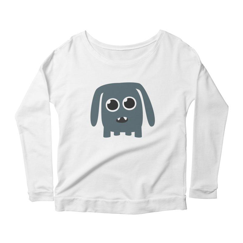 Monster Doggy Women's Scoop Neck Longsleeve T-Shirt by B