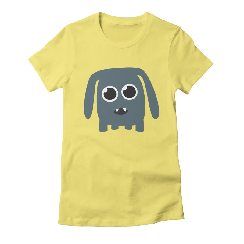 Monster Doggy Women's Fitted T-Shirt by B