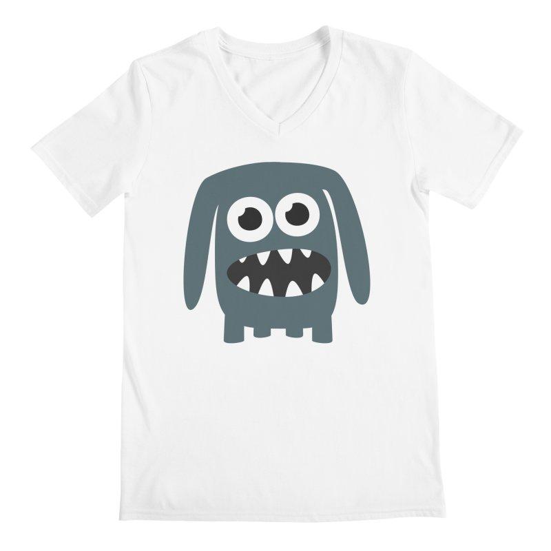 Monster Doggy 2 Men's Regular V-Neck by B