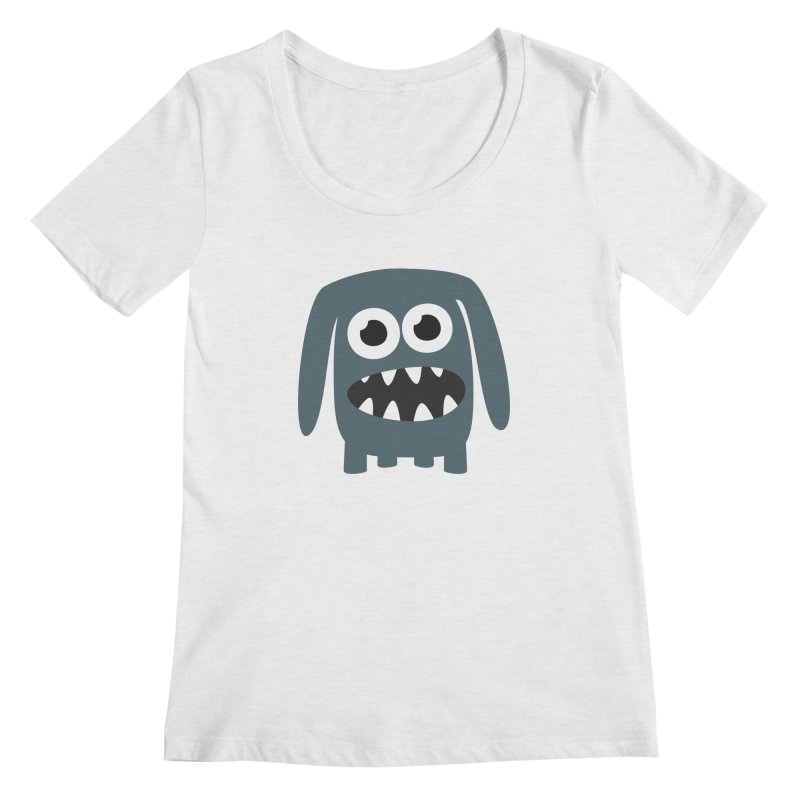 Monster Doggy 2 Women's Regular Scoop Neck by B