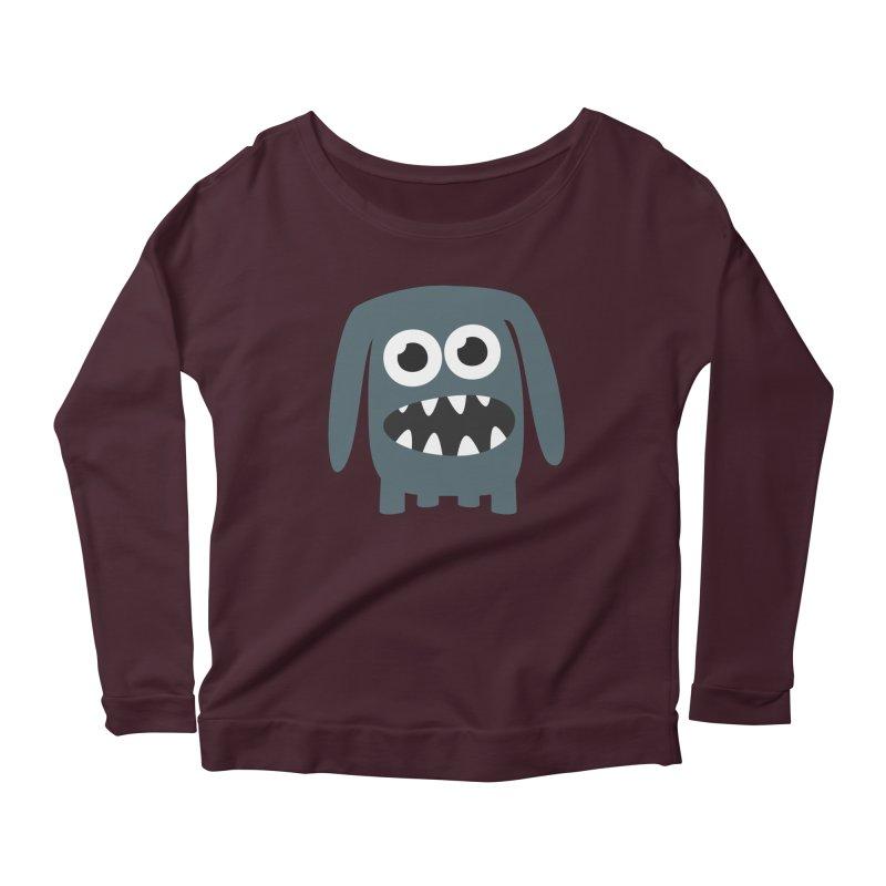 Monster Doggy 2 Women's Scoop Neck Longsleeve T-Shirt by B