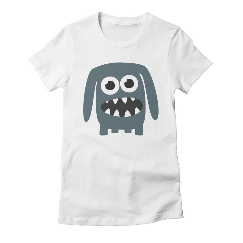 Monster Doggy 2 Women's Fitted T-Shirt by B