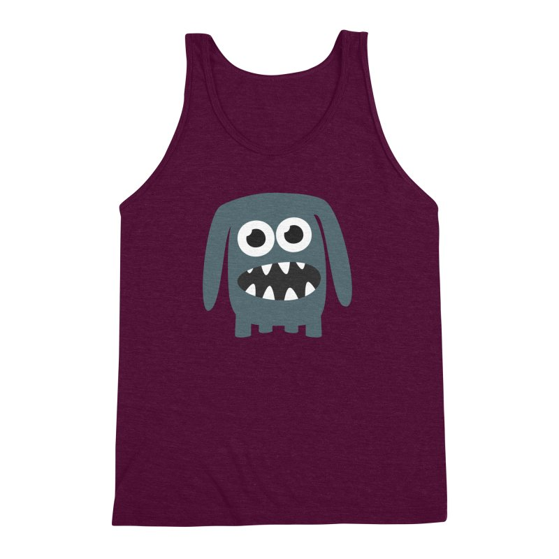 Monster Doggy 2 Men's Triblend Tank by B