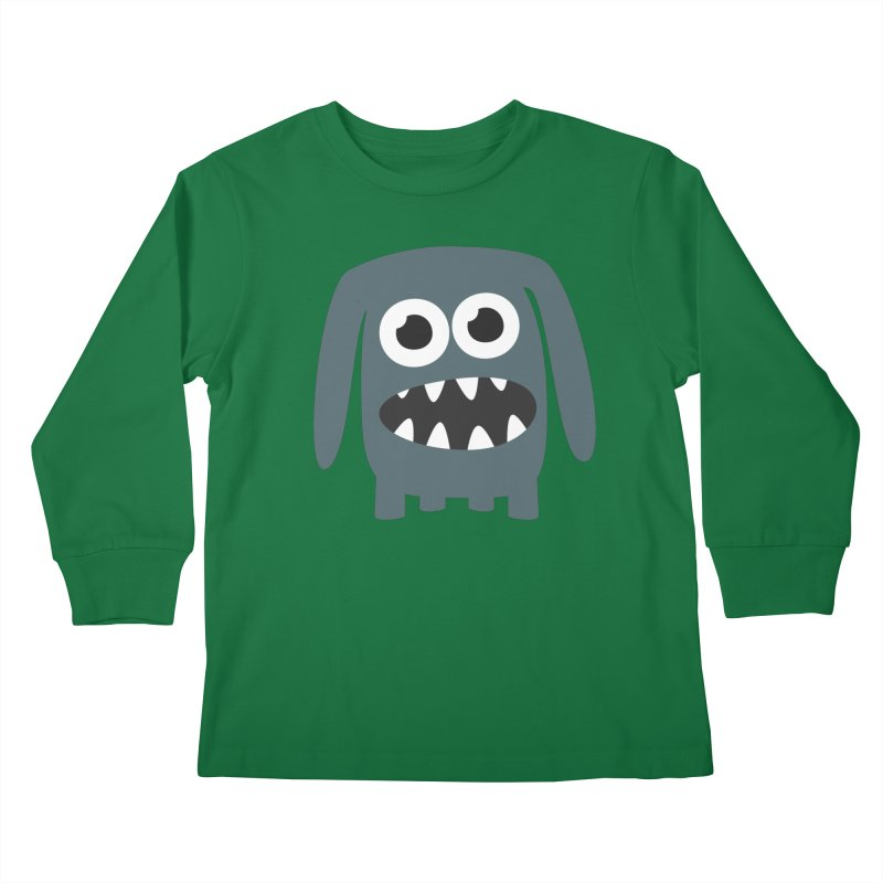 Monster Doggy 2 Kids Longsleeve T-Shirt by B