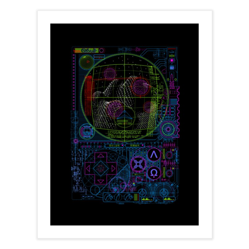 Hitech Analog Gaming Home Fine Art Print by 0_cult's Artist Shop
