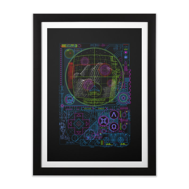 Hitech Analog Gaming Home Framed Fine Art Print by 0_cult's Artist Shop