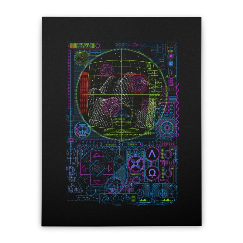 Hitech Analog Gaming Home Stretched Canvas by 0_cult's Artist Shop