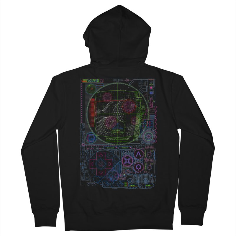 Hitech Analog Gaming Men's Zip-Up Hoody by 0_cult's Artist Shop