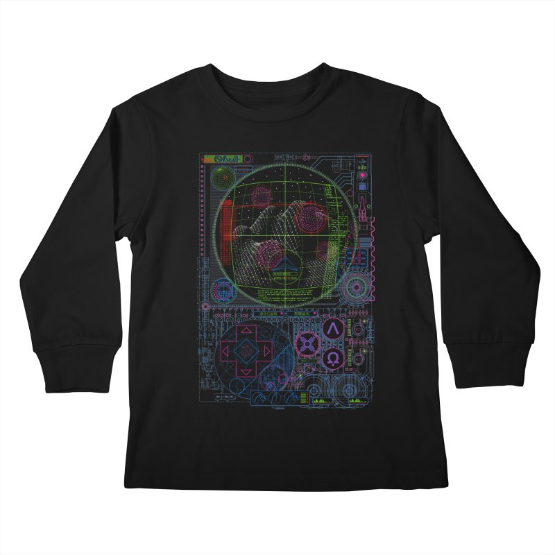 Hitech Analog Gaming Kids Longsleeve T-Shirt by 0_cult's Artist Shop