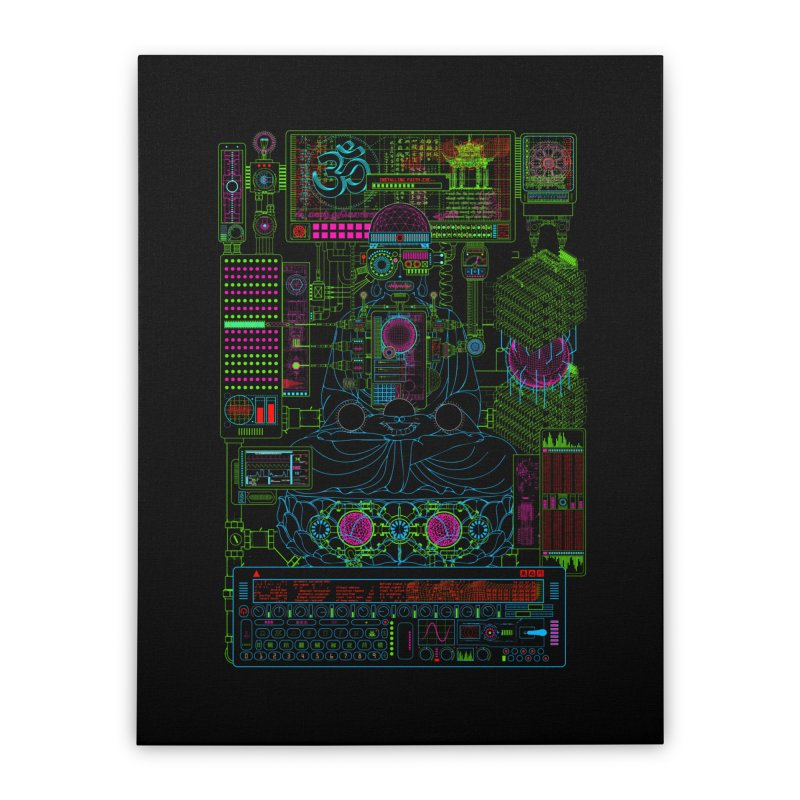 Faith.exe Home Stretched Canvas by 0_cult's Artist Shop