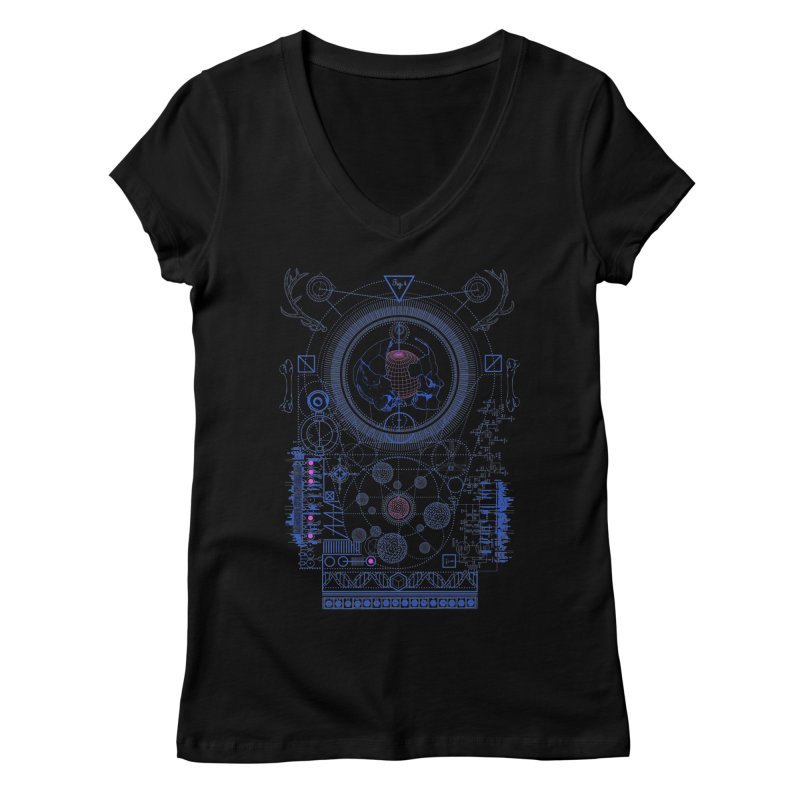 Fig.4 Women's V-Neck by 0_cult's Artist Shop