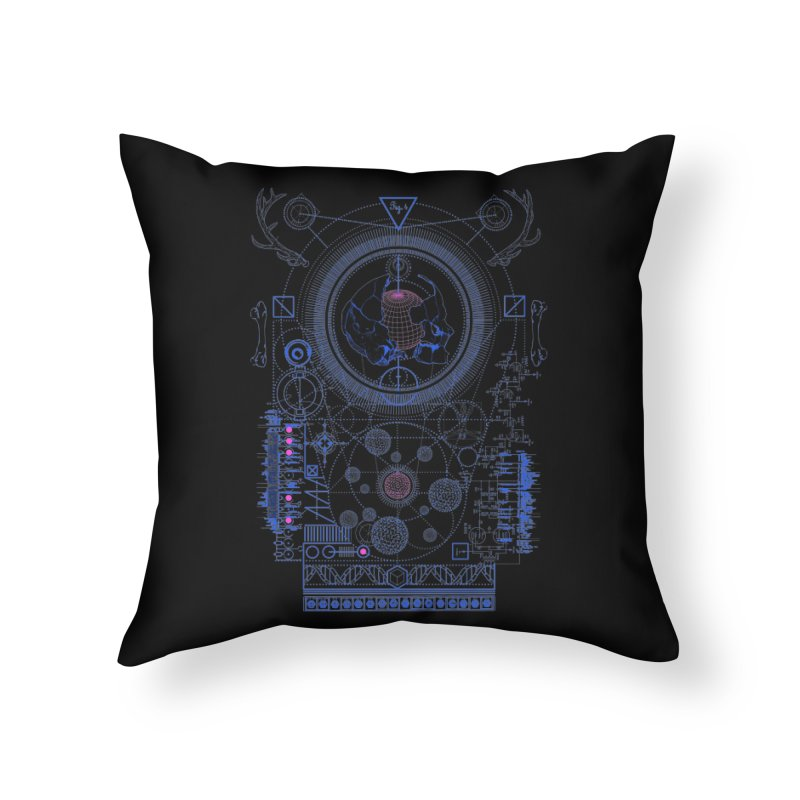 Fig.4 Home Throw Pillow by 0_cult's Artist Shop