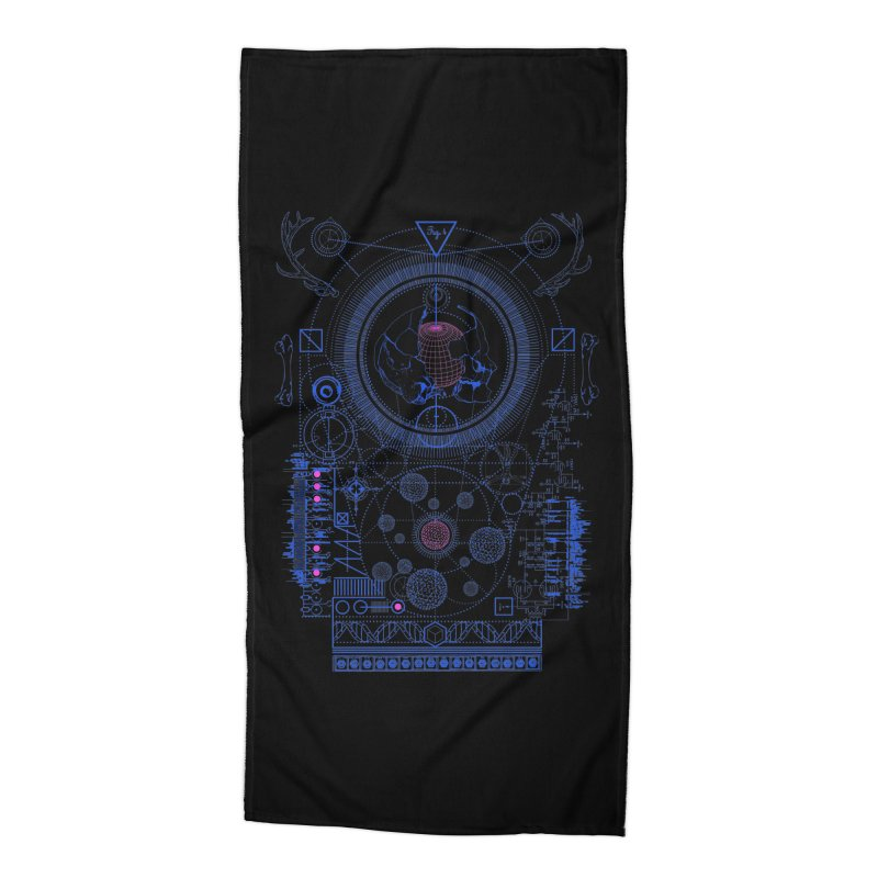 Fig.4 Accessories Beach Towel by 0_cult's Artist Shop