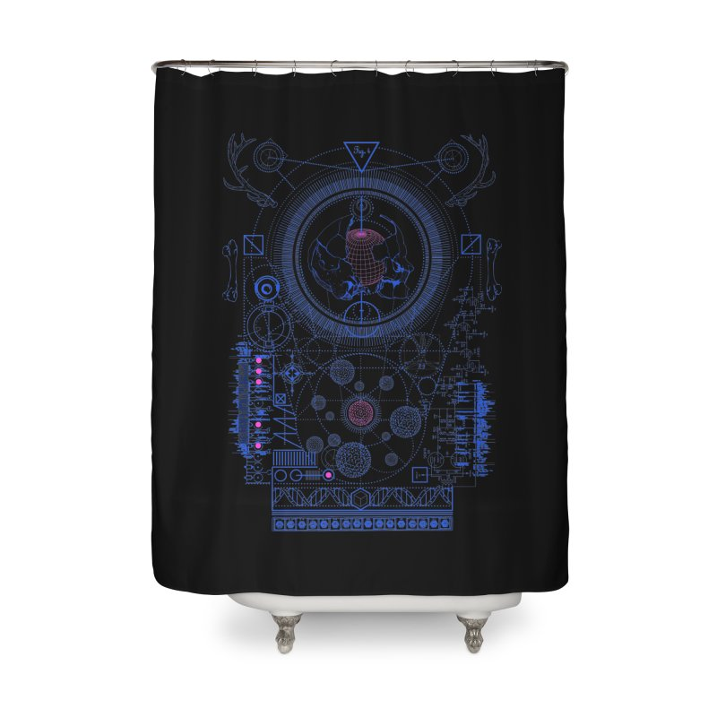 Fig.4 Home Shower Curtain by 0_cult's Artist Shop