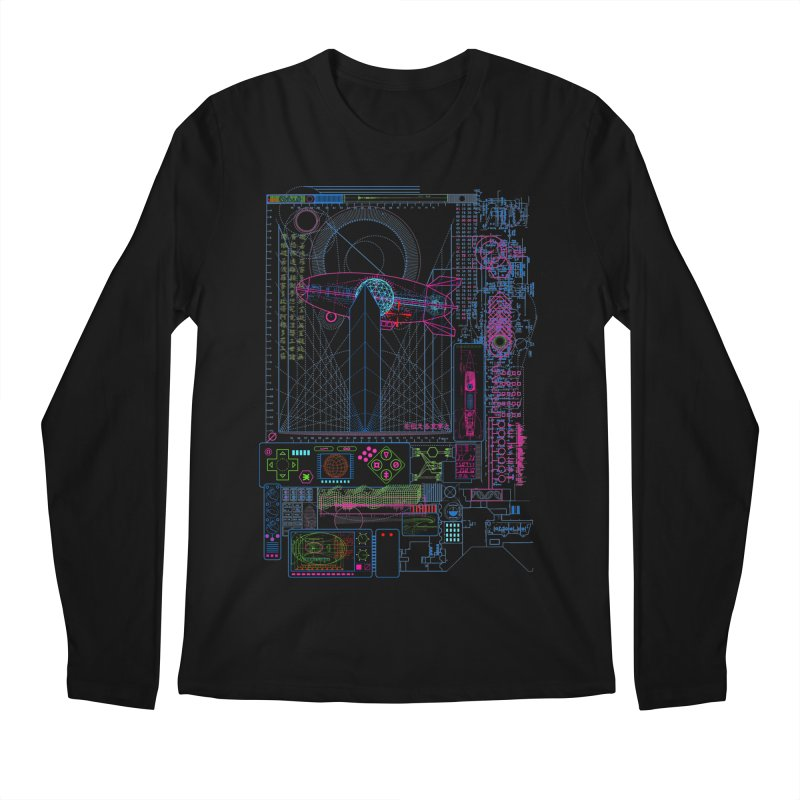 Main Control Console Men's Longsleeve T-Shirt by 0_cult's Artist Shop