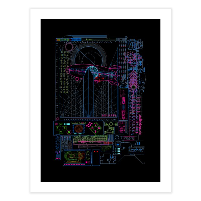 Main Control Console Home Fine Art Print by 0_cult's Artist Shop