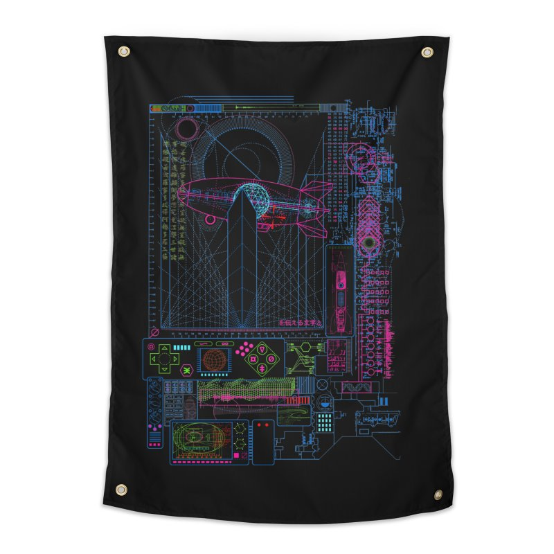 Main Control Console Home Tapestry by 0_cult's Artist Shop