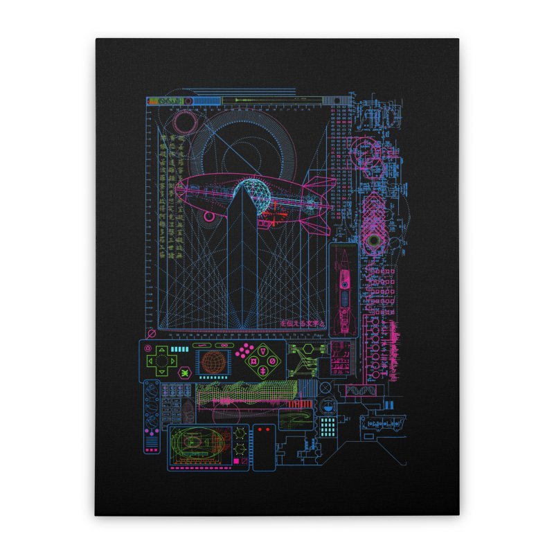 Main Control Console Home Stretched Canvas by 0_cult's Artist Shop