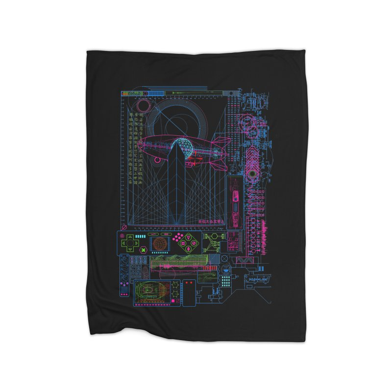 Main Control Console Home Blanket by 0_cult's Artist Shop
