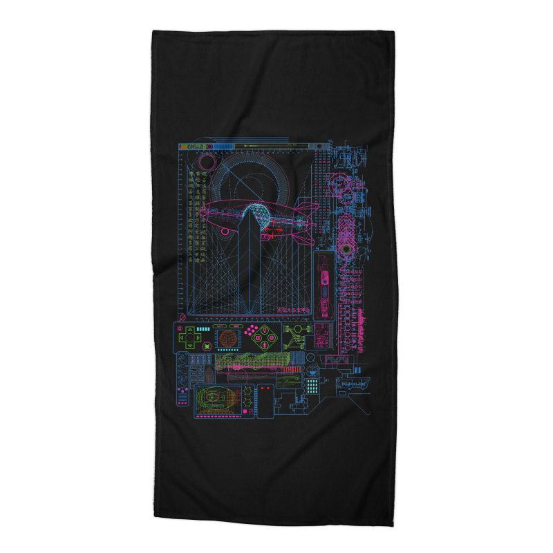 Main Control Console Accessories Beach Towel by 0_cult's Artist Shop