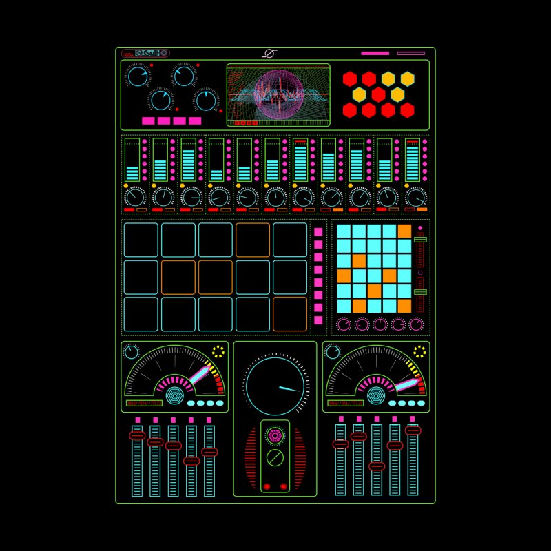 Midi Machine None  by 0_cult's Artist Shop