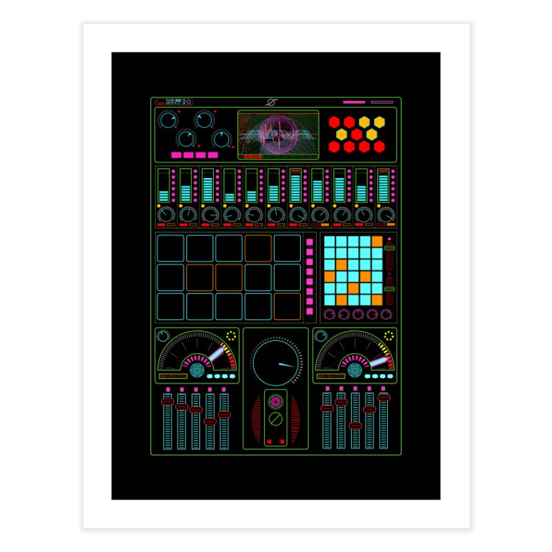 Midi Machine Home Fine Art Print by 0_cult's Artist Shop