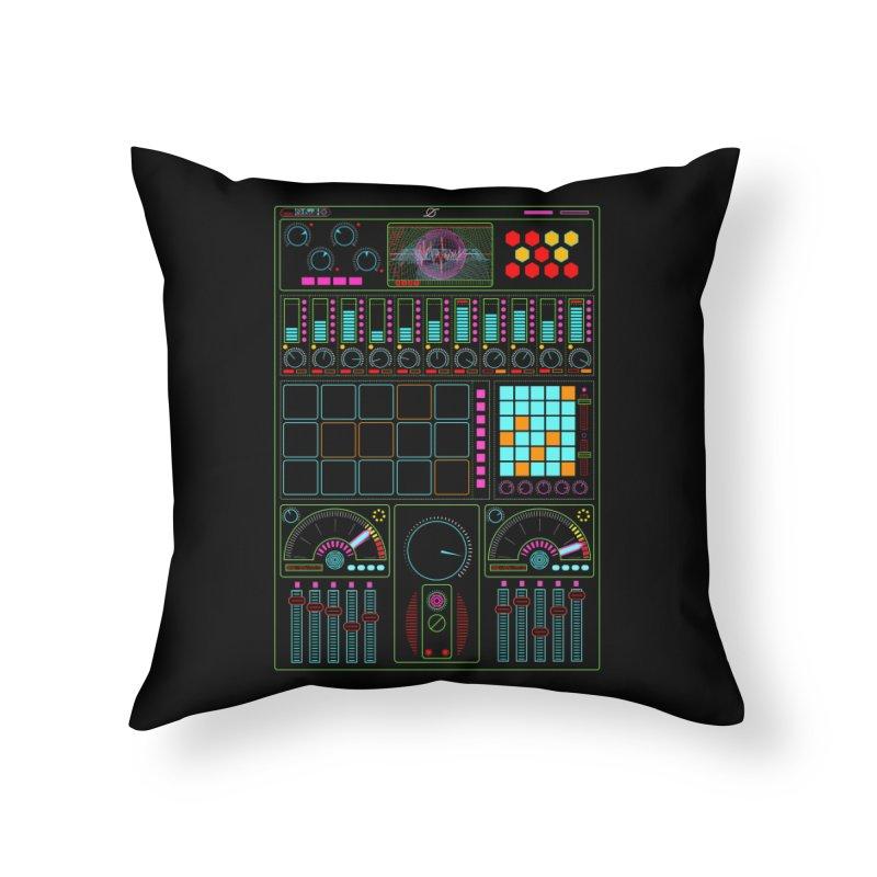 Midi Machine Home Throw Pillow by 0_cult's Artist Shop