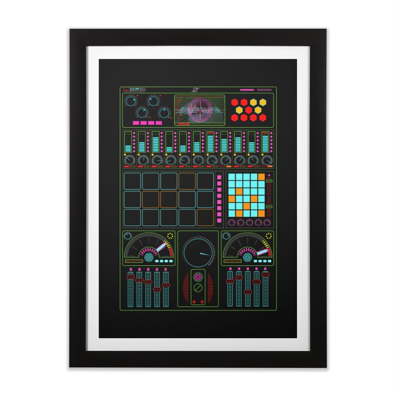 Midi Machine Home Framed Fine Art Print by 0_cult's Artist Shop