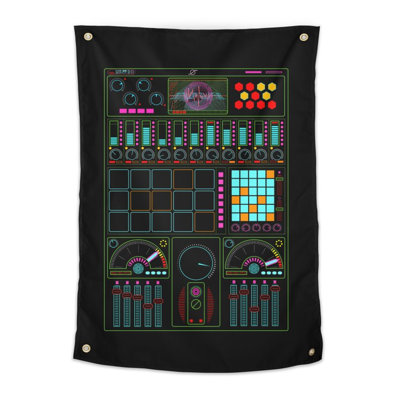 Midi Machine Home Tapestry by 0_cult's Artist Shop