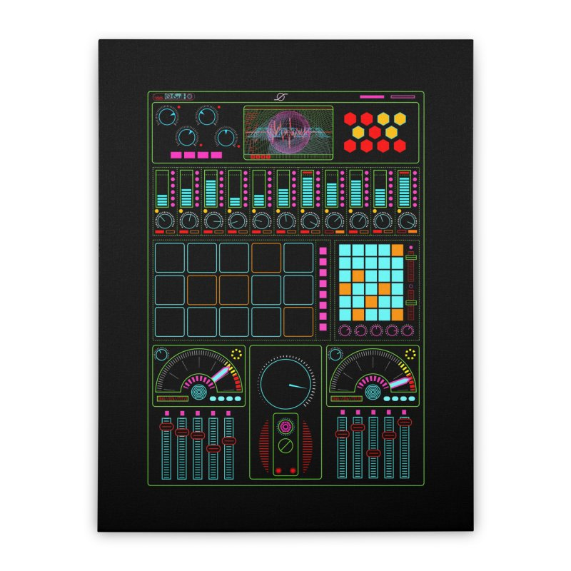 Midi Machine Home Stretched Canvas by 0_cult's Artist Shop