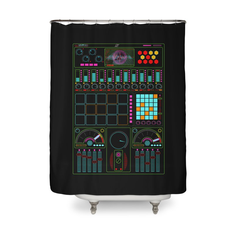 Midi Machine Home Shower Curtain by 0_cult's Artist Shop