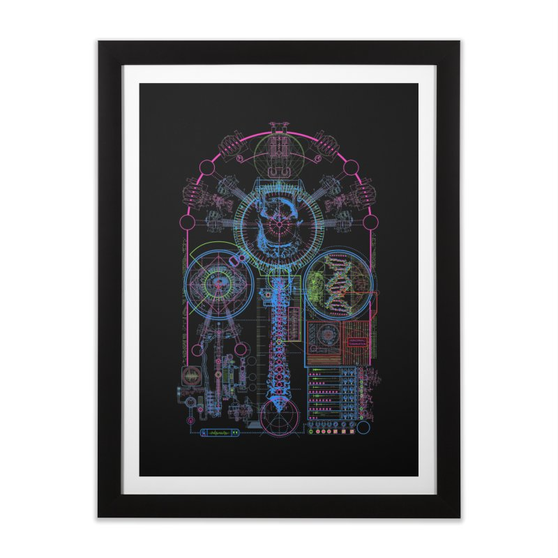 Science of Torture Home Framed Fine Art Print by 0_cult's Artist Shop