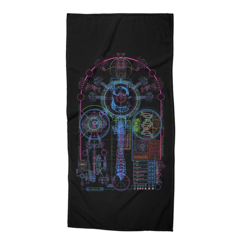 Science of Torture Accessories Beach Towel by 0_cult's Artist Shop