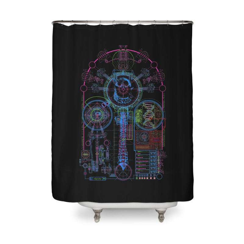 Science of Torture Home Shower Curtain by 0_cult's Artist Shop