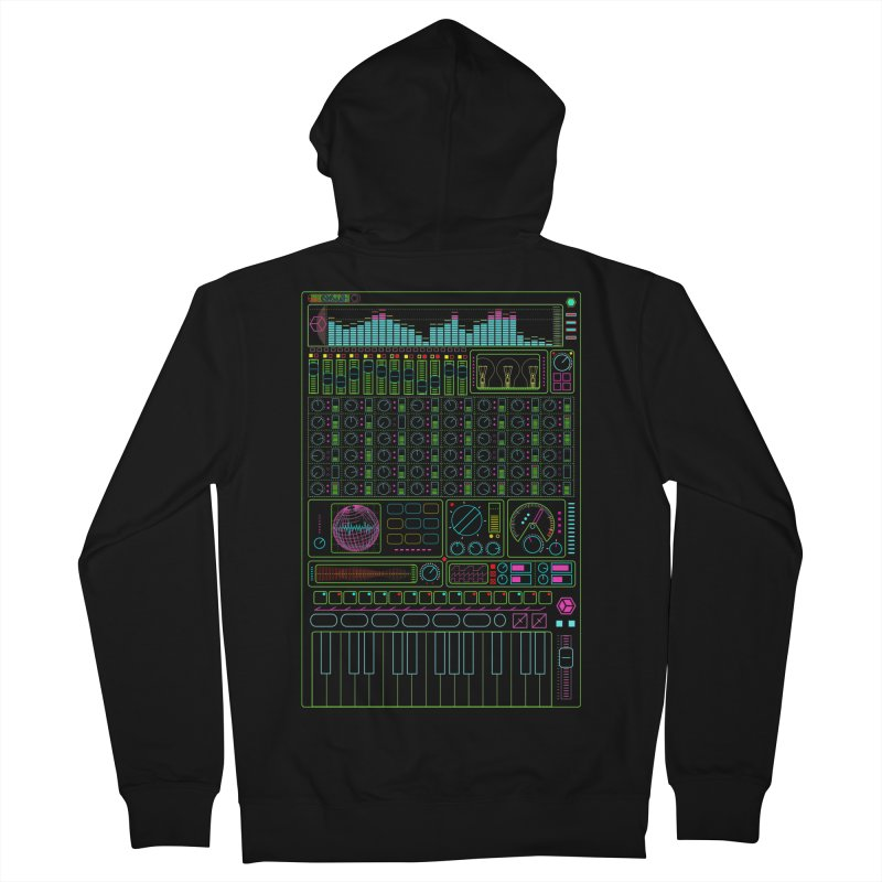 Synth machine Men's Zip-Up Hoody by 0_cult's Artist Shop