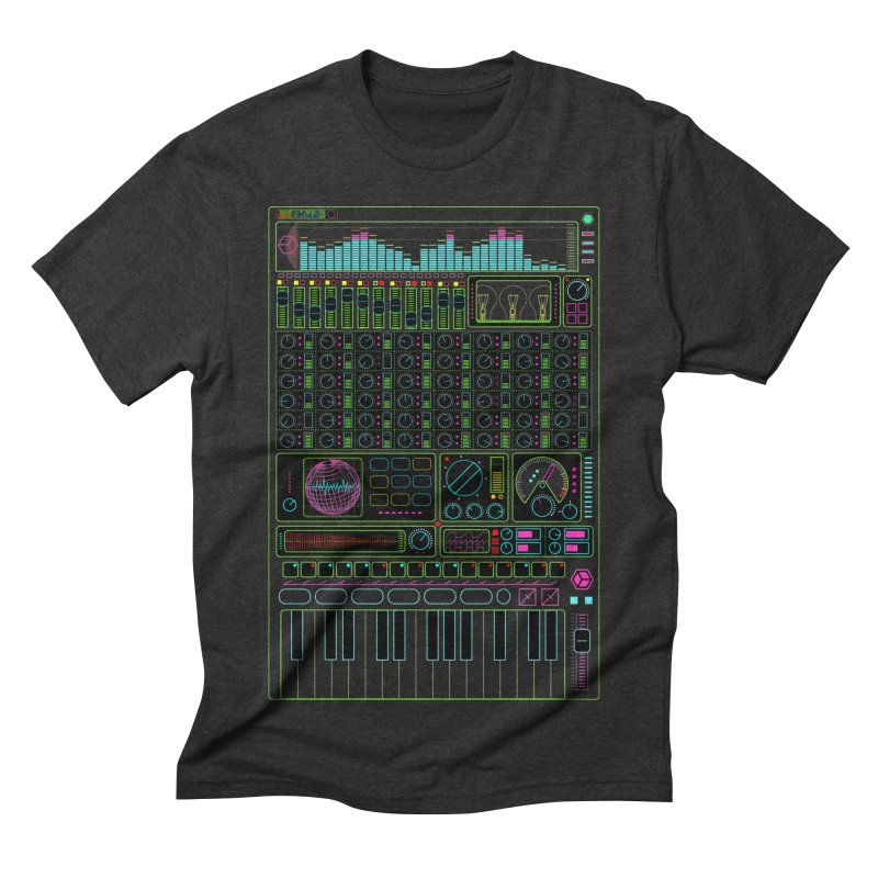 Synth machine Men's Triblend T-shirt by 0_cult's Artist Shop