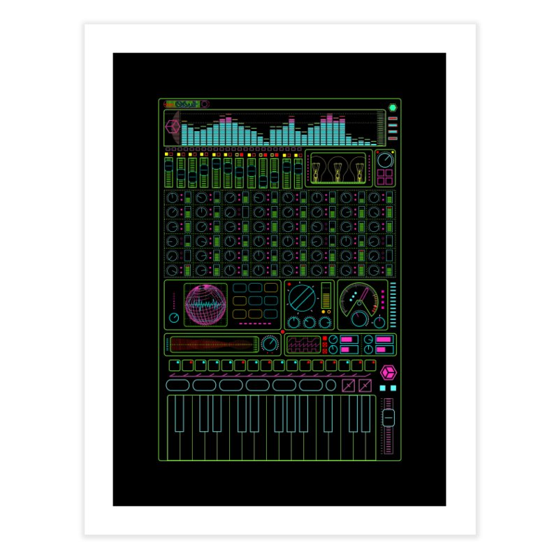Synth machine Home Fine Art Print by 0_cult's Artist Shop