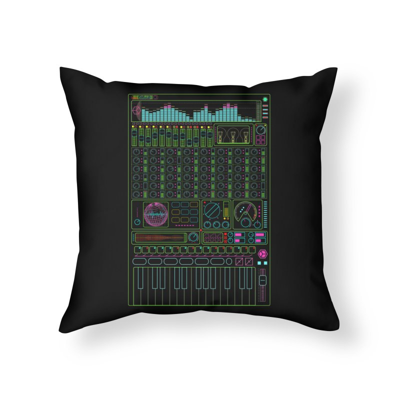 Synth machine Home Throw Pillow by 0_cult's Artist Shop